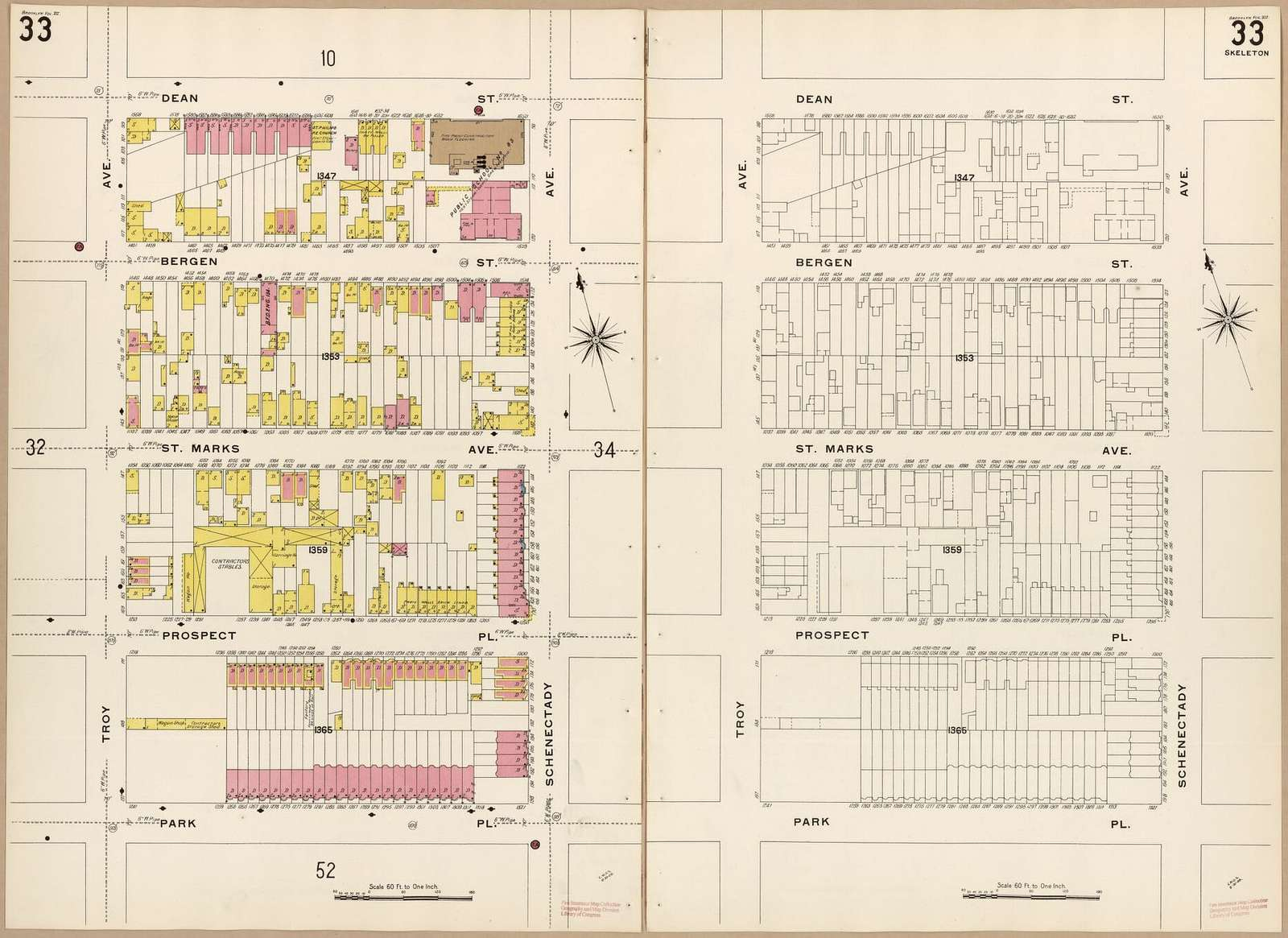 Sanborn Fire Insurance Map from Brooklyn, Kings County, New York.