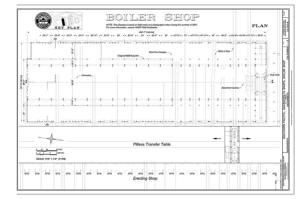 Southern Pacific, Sacramento Shops, Boiler Shop, 111 I Street, Sacramento, Sacramento County, CA
