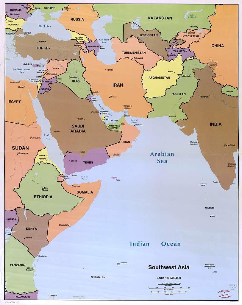 Southwest Asia. - PICRYL Public Domain Image