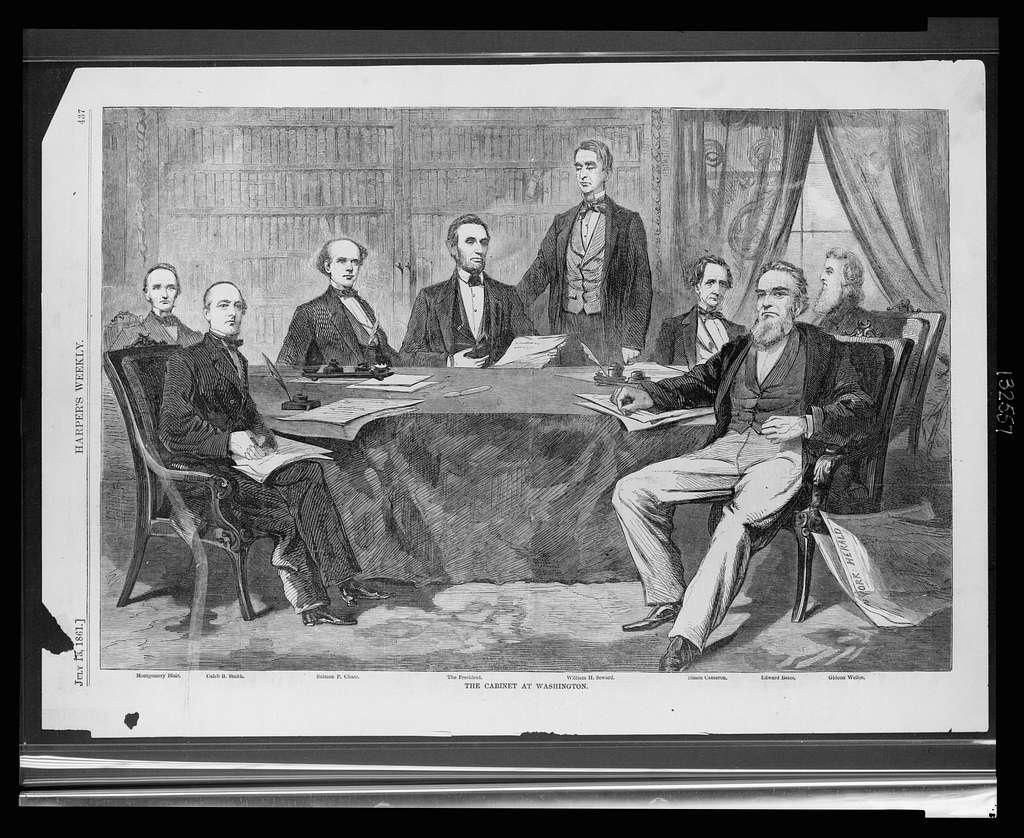 The cabinet at Washington