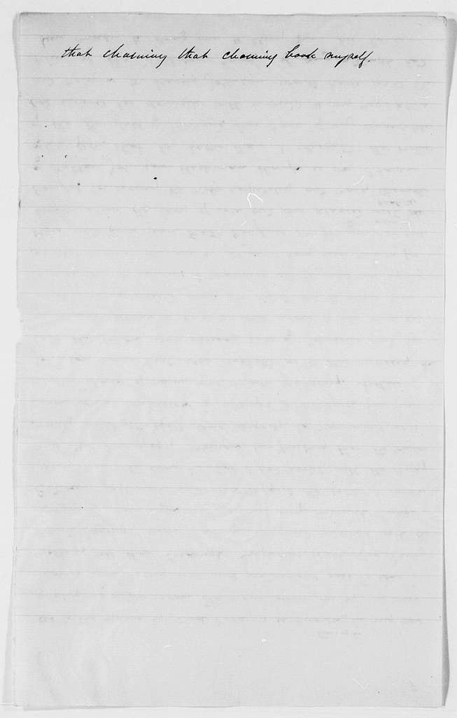 Drafts of Douglass' Autobiography - pp. 250-259