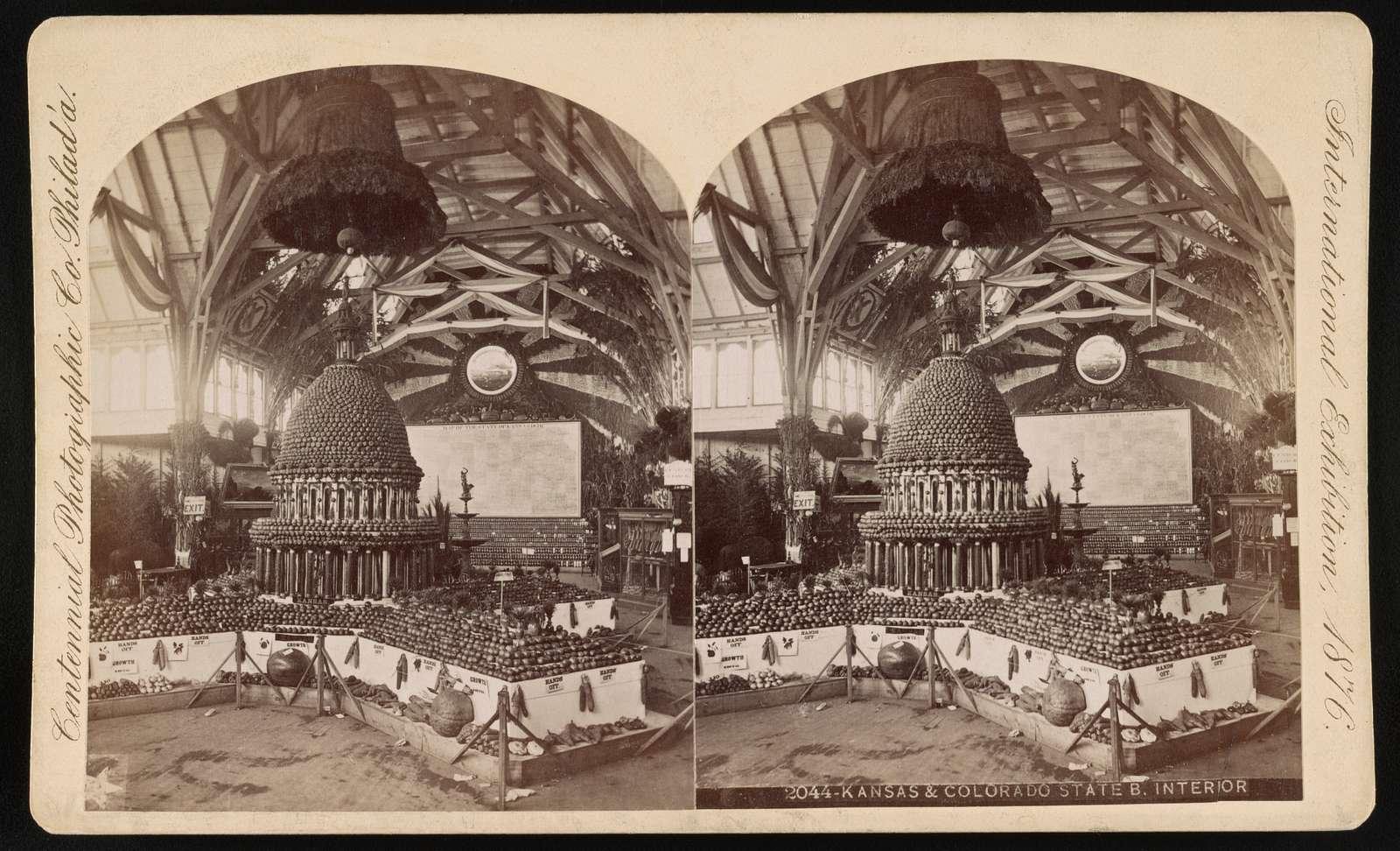 International Exhibition, Phila., Pa.: Kansas & Colorado State Building - interior