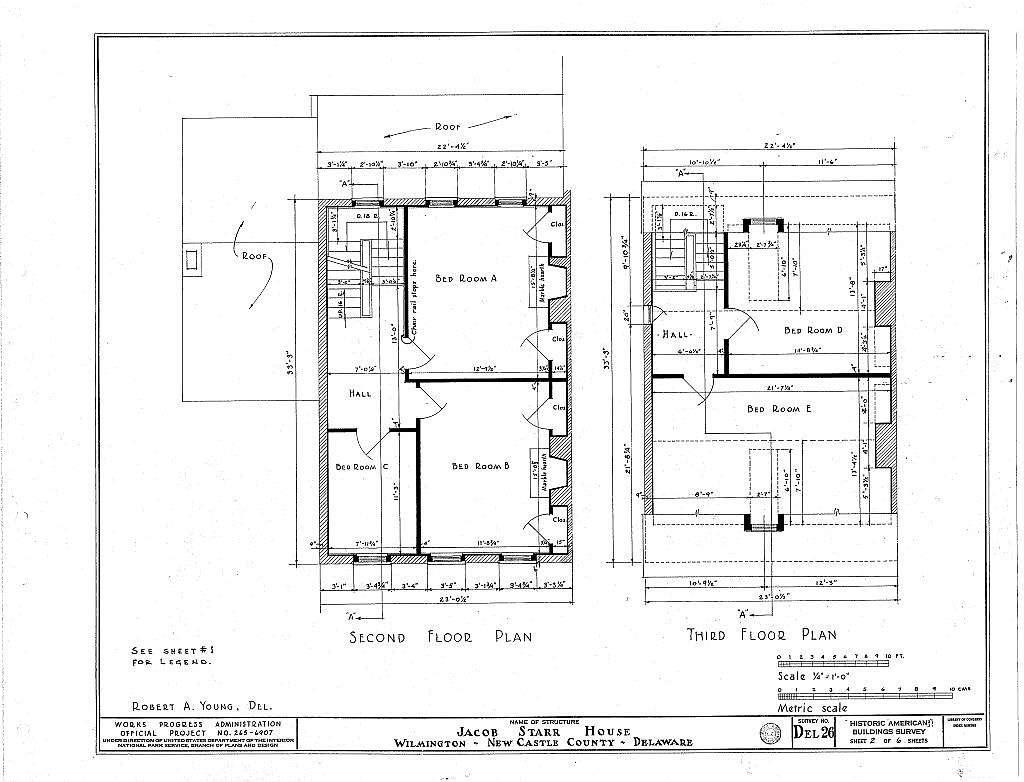 Jacob Starr House, 1310 North King Street, Wilmington, New Castle County, DE