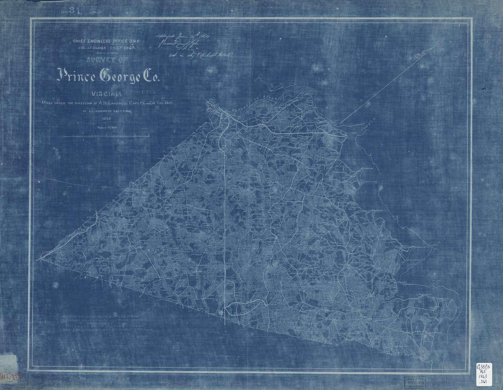 Survey of Prince George Co., Virginia /