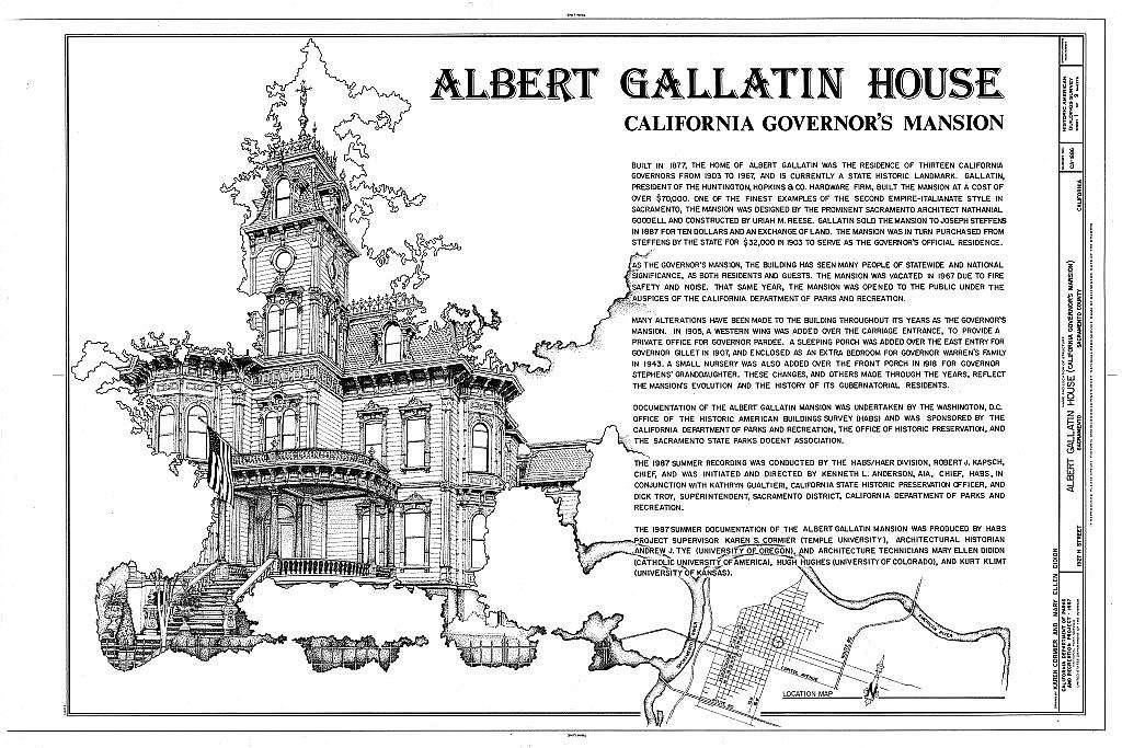Albert Gallatin House, 1527 H Street, Sacramento, Sacramento County, CA