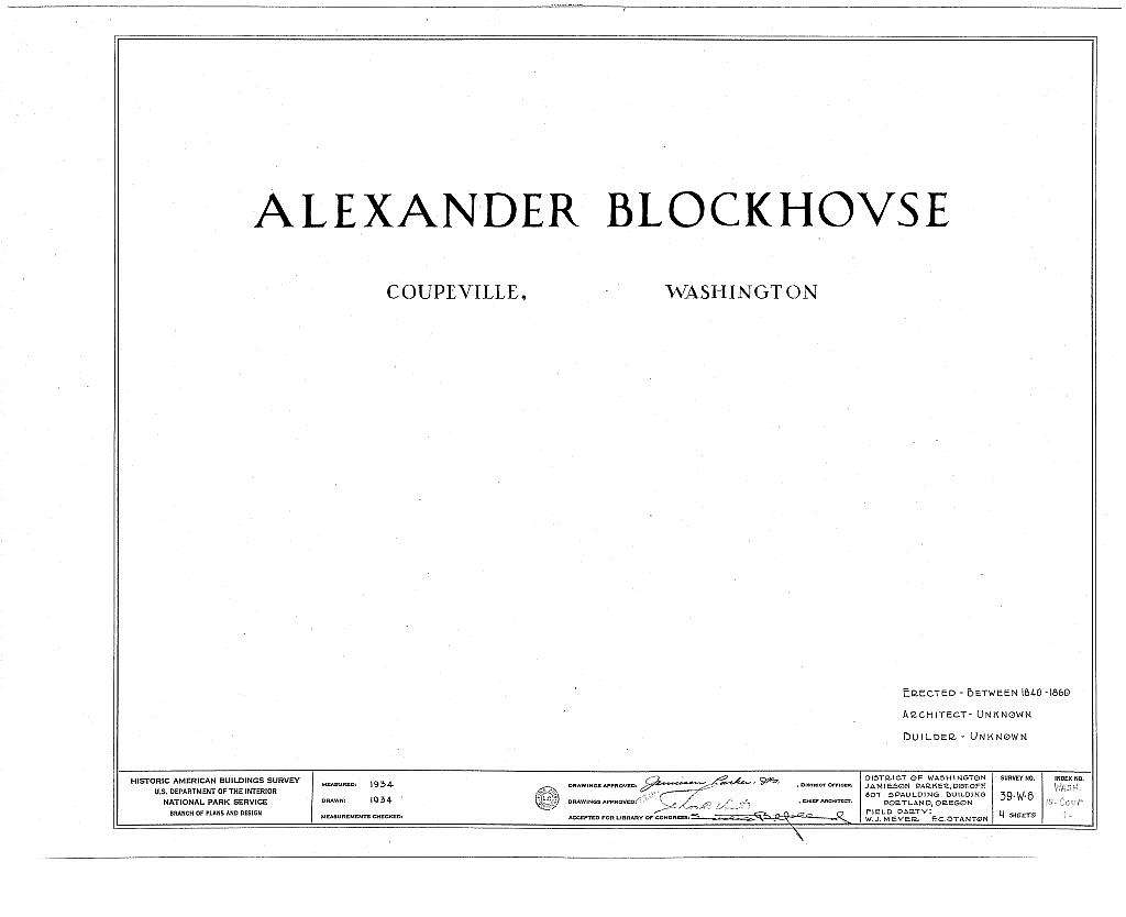 Alexander Blockhouse, Island Highway, Main Street, Whidby Island, Coupeville, Island County, WA