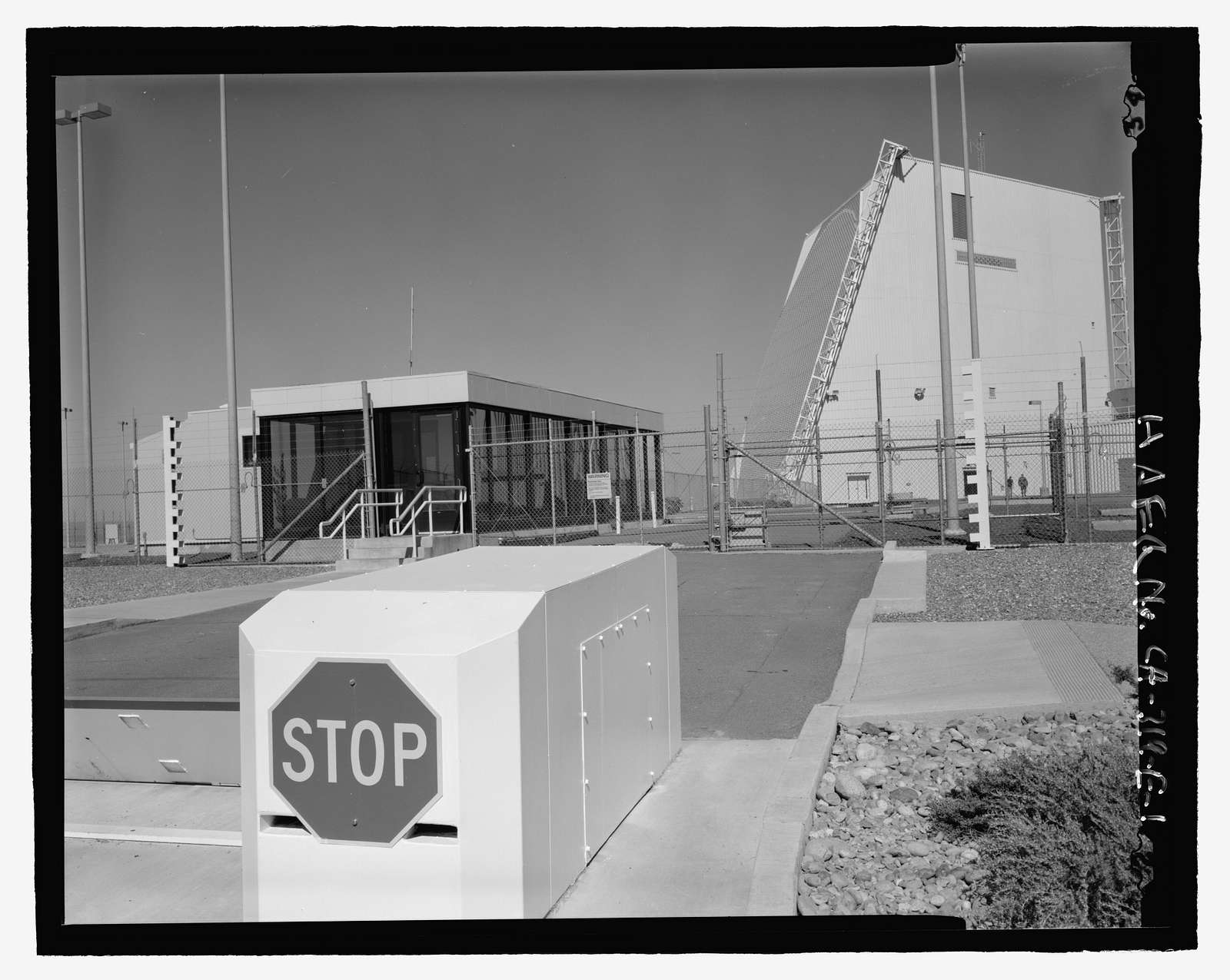 Beale Air Force Base, Perimeter Acquisition Vehicle Entry Phased-Array Warning System, Gate House, End of Spencer Paul Road, north of Warren Shingle Road (14th Street), Marysville, Yuba County, CA