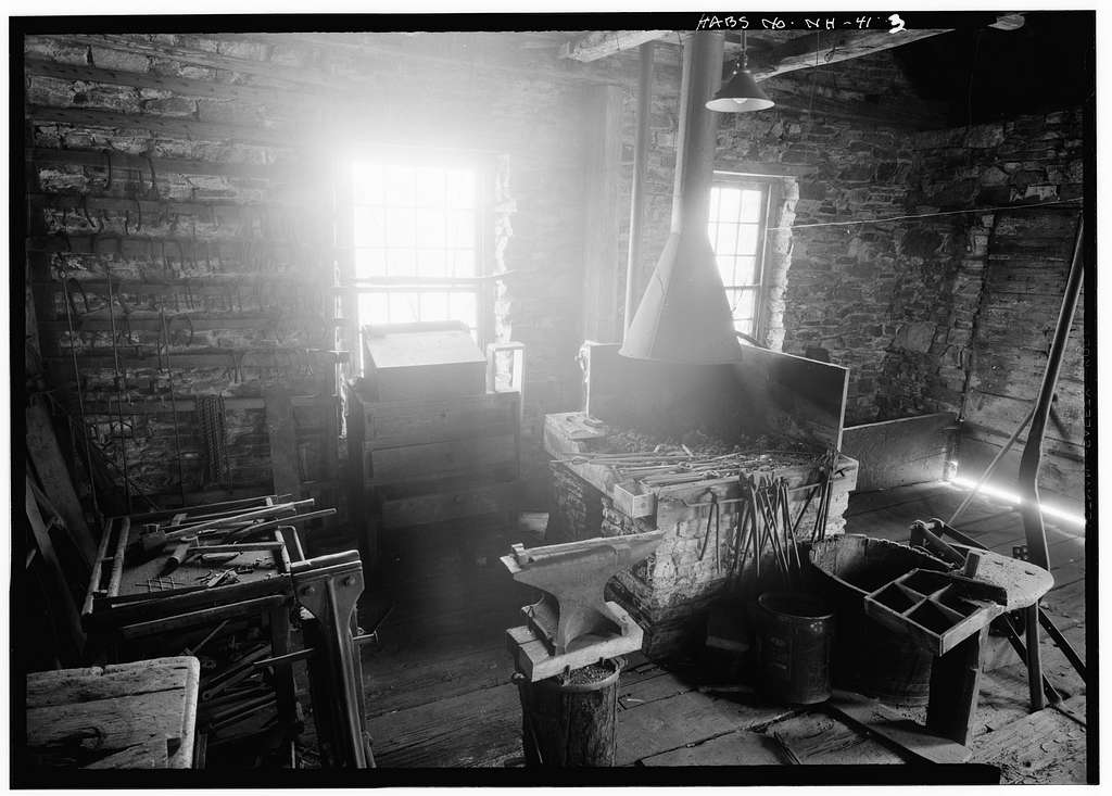 Blacksmith Shop, (moved to MA, Hampden County, West Springfield, Exposition Grounds), Chesterfield, Cheshire County, NH