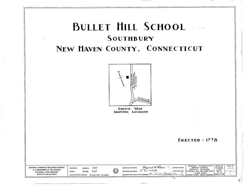 Bullet Hill School, U.S. Routes 6 & 202, Southbury, New Haven County, CT