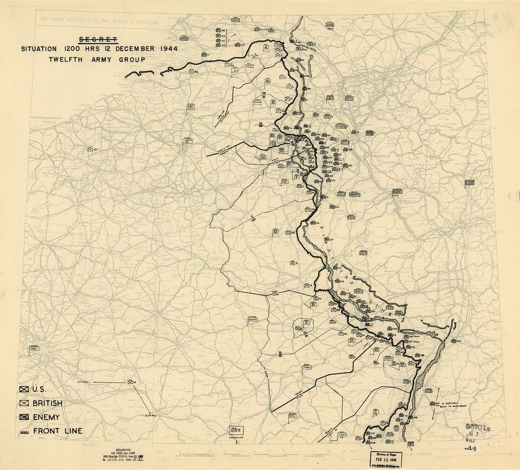 [December 12, 1944], HQ Twelfth Army Group situation map.