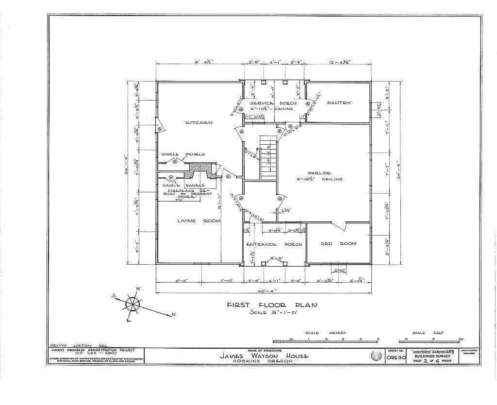 James Watson House, Hoskins, Benton County, OR