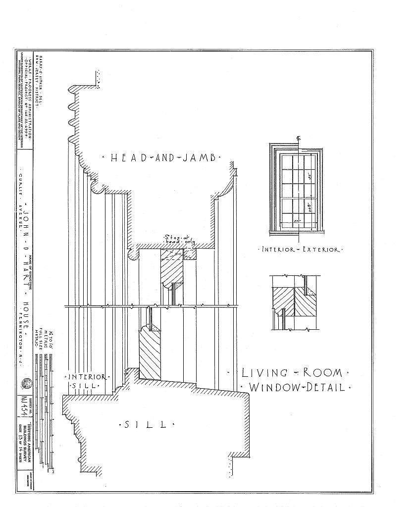 John D. Hart House, Curlis Avenue, Pennington, Mercer County, NJ