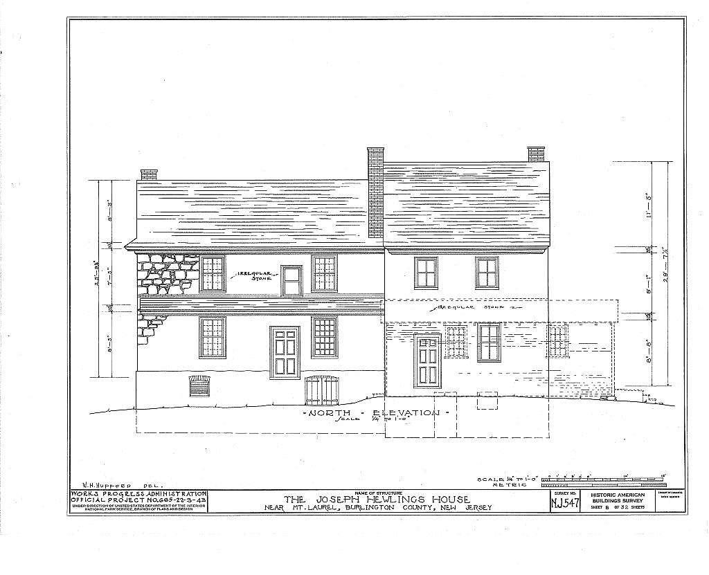 Joseph Hewlings House, Mount Laurel, Burlington County, NJ