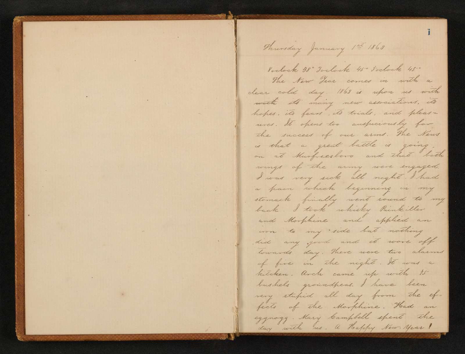 Lewis H. Machen Family Papers: Diaries and Diary Transcriptions, 1860-1865; Diaries; Gresham, LeRoy Wiley; 1863, 1 Jan.-1864, 30 Apr