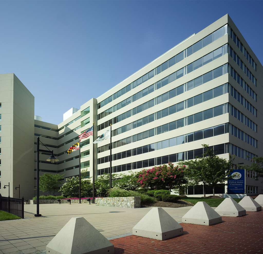 Photographs of the Edward A. Garmatz Federal Building and U.S. Courthouse in Baltimore, Maryland