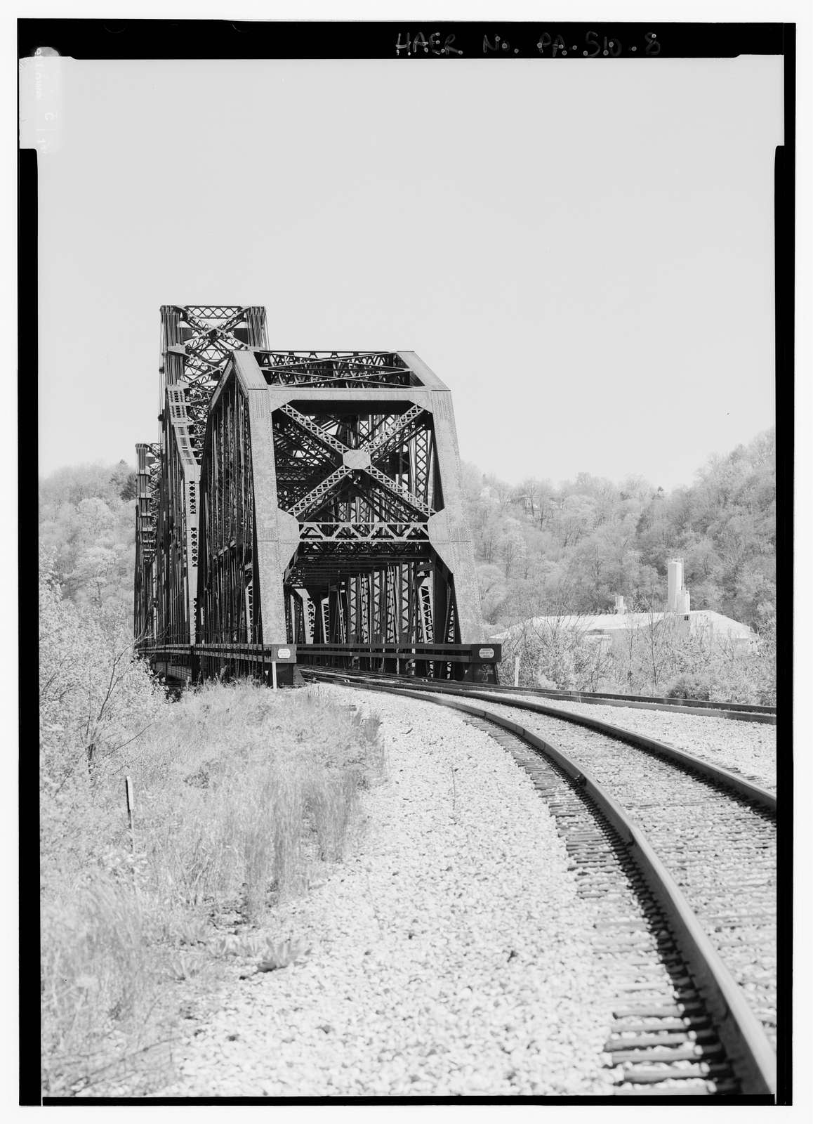 Pittsburgh & Lake Erie Railroad, Ohio River Bridge, Spanning Ohio River, West of Beaver River, Beaver, Beaver County, PA