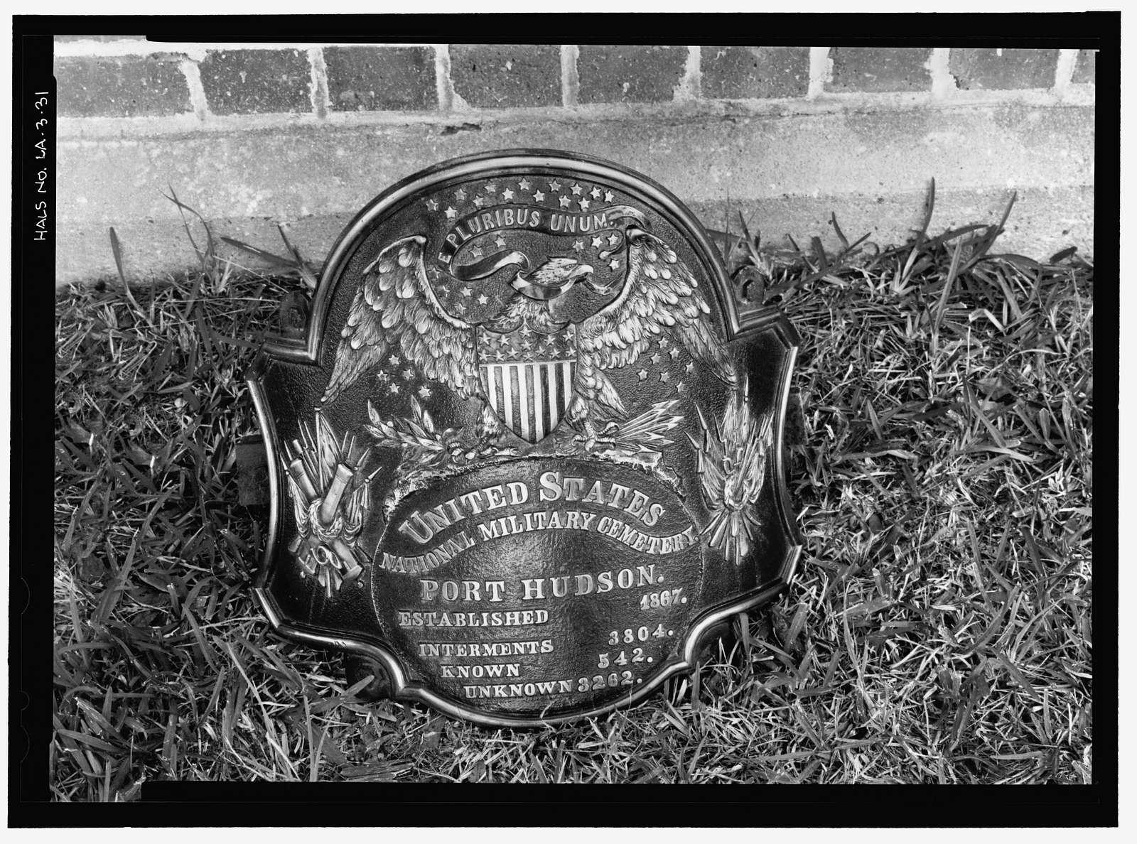 Port Hudson National Cemetery, 20978 Port Hickey Road, Zachary, East Baton Rouge Parish, LA