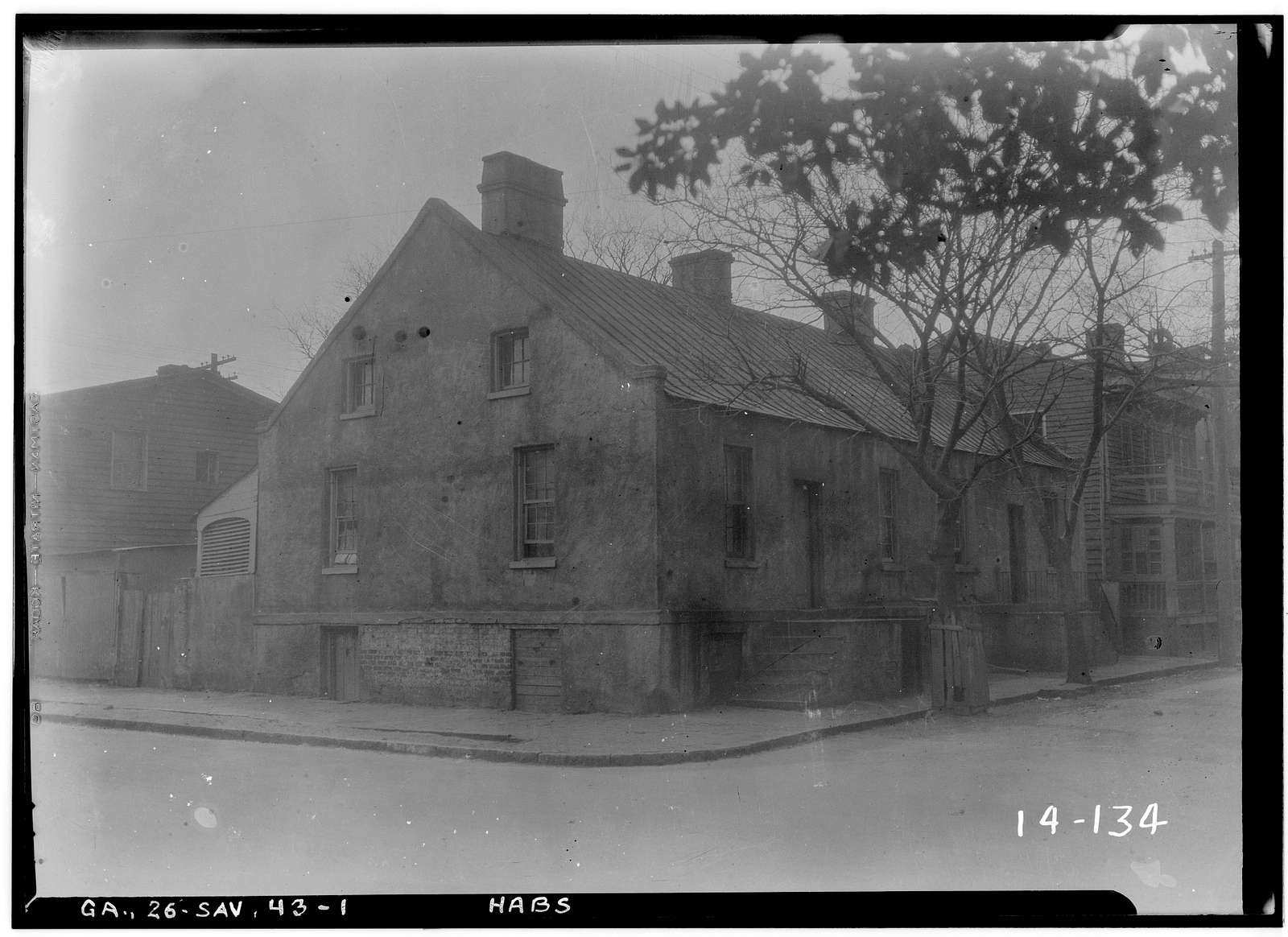 Tenement Houses, 421-423 East York Street, Savannah, Chatham County, GA