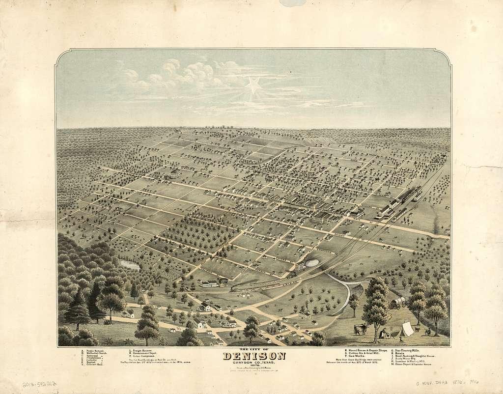 The city of Denison, Grayson Co., Texas, 1876 /
