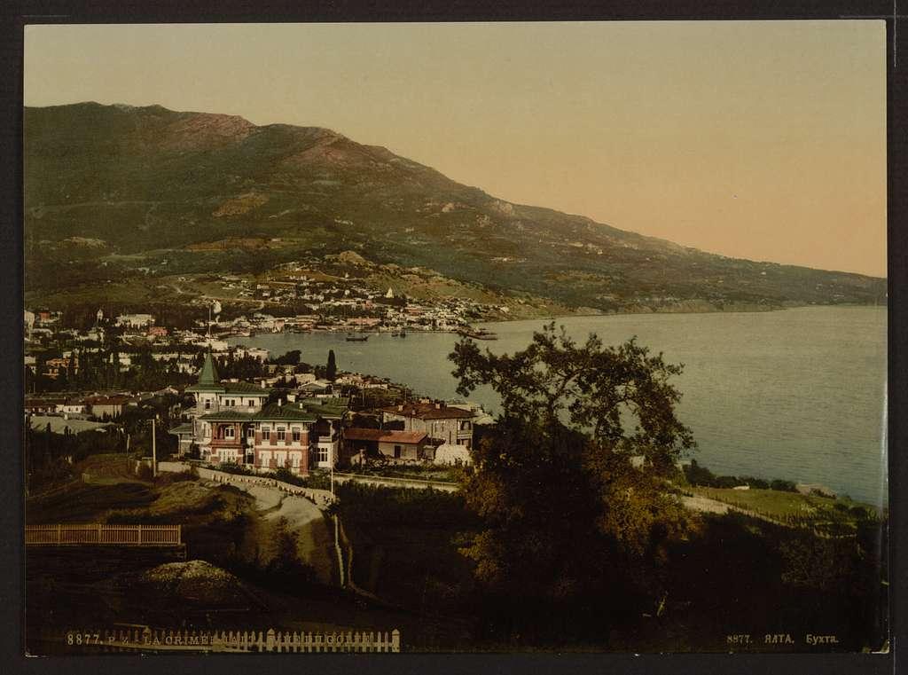 [The gulf, Jalta, (i.e., Yalta), the Crimea, Russia, (i.e., Ukraine)]