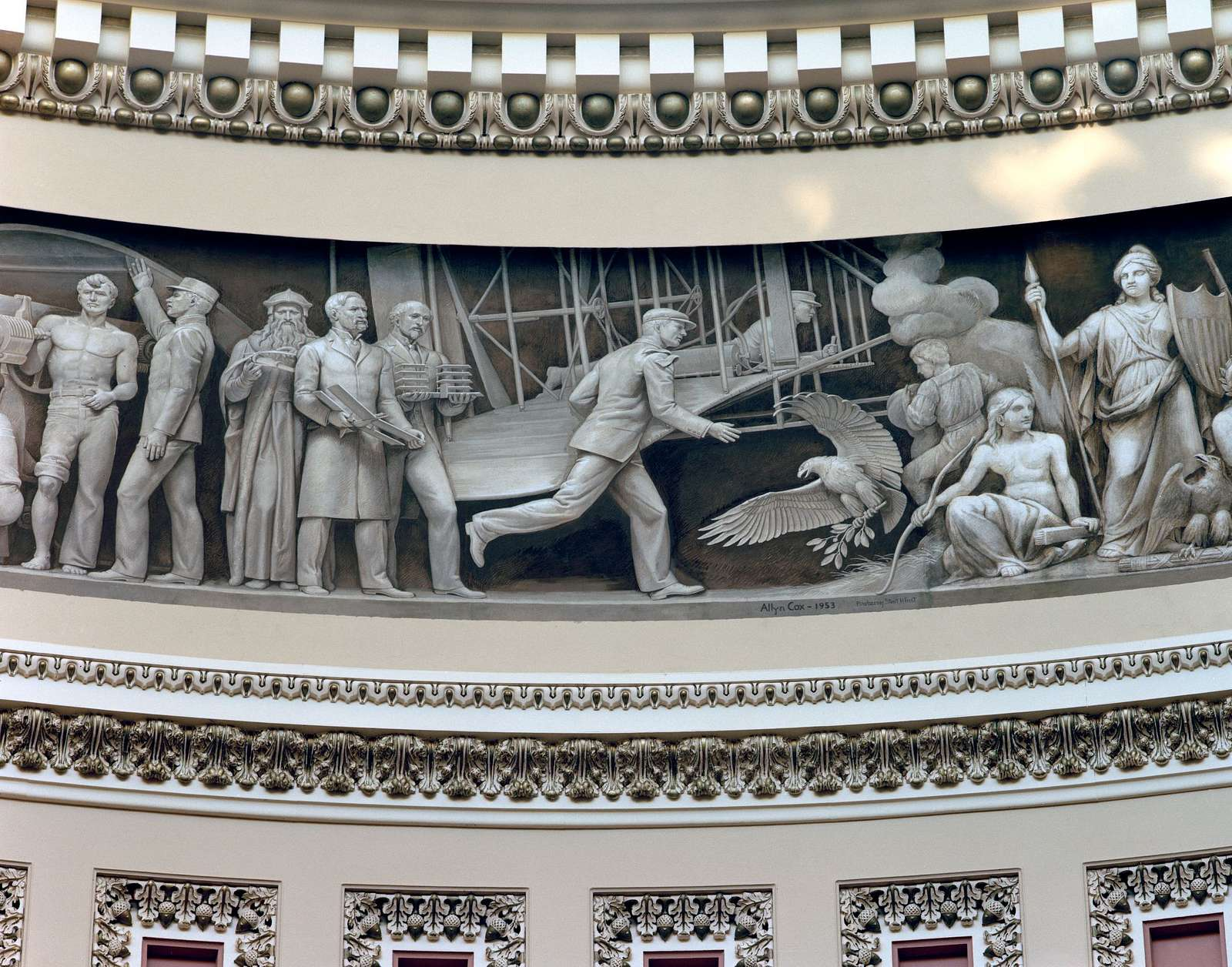 Wright Brothers frieze in U.S. Capitol dome, Washington, D.C.