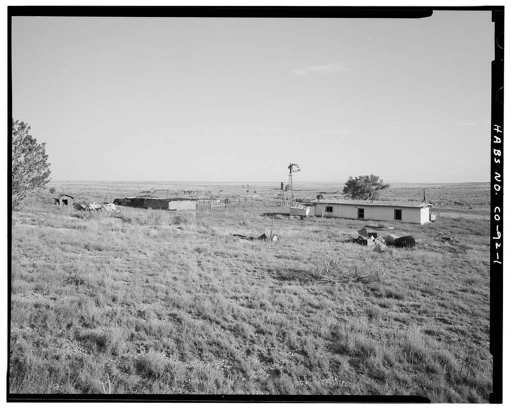 Asa T. Haines Homestead, 8 miles east of U.S. Highway 350, Model, Las Animas County, CO