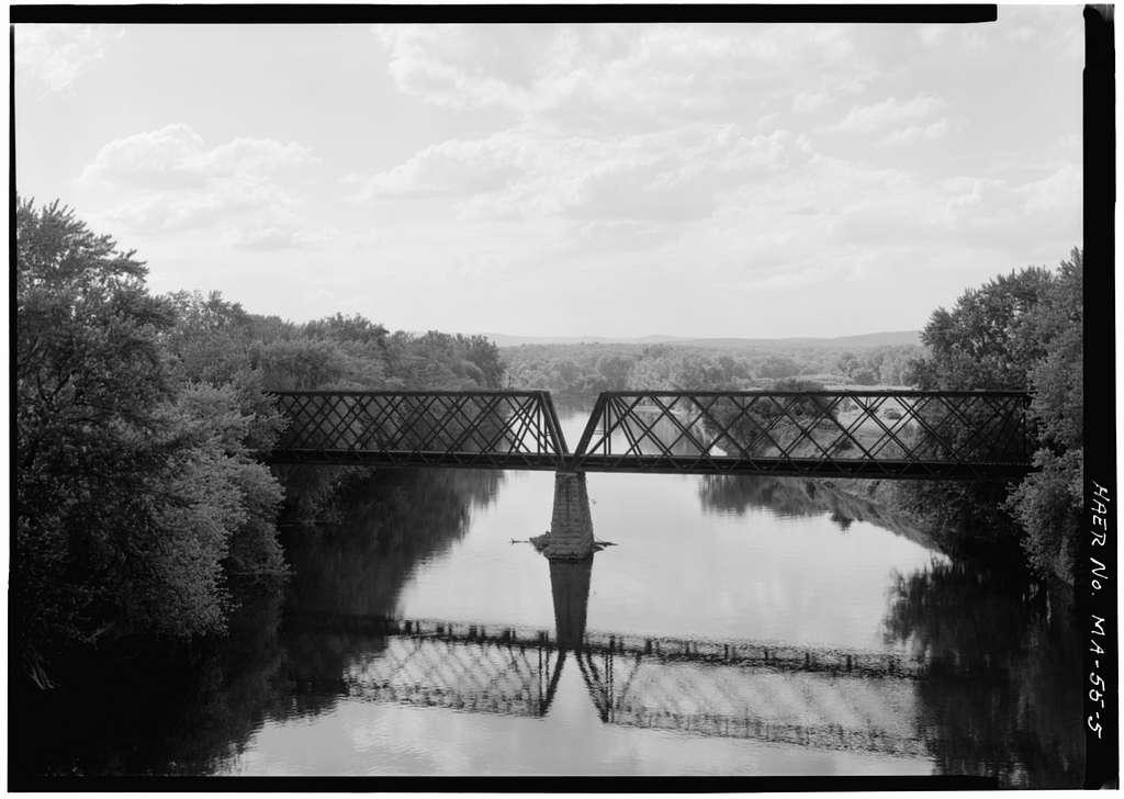 Boston & Maine Railroad, Northampton Lattice Truss Bridge, Northampton, Hampshire County, MA