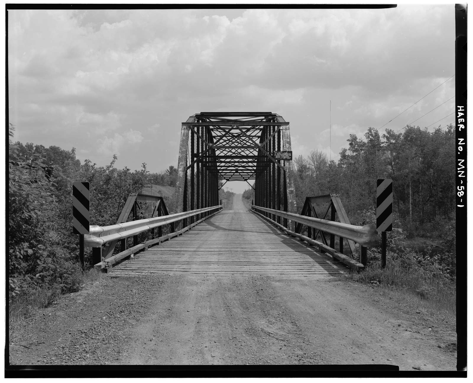 Brosseau Road Bridge, County Road 694 spanning Cloquet at River, Burnett, St. Louis County, MN