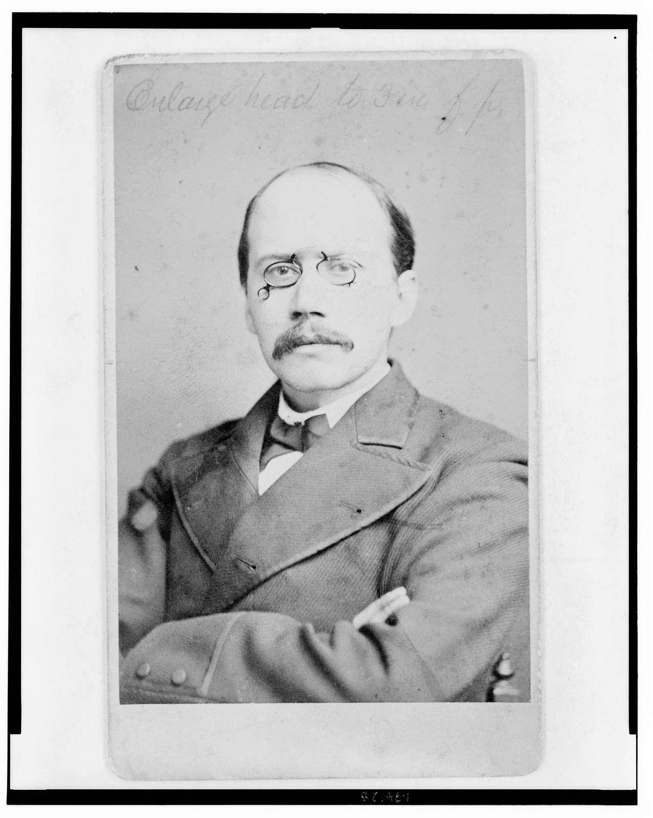 [Charles Herber Clark, author (pen name, Max Adler), half-length portrait, facing front] / Gutekunst.