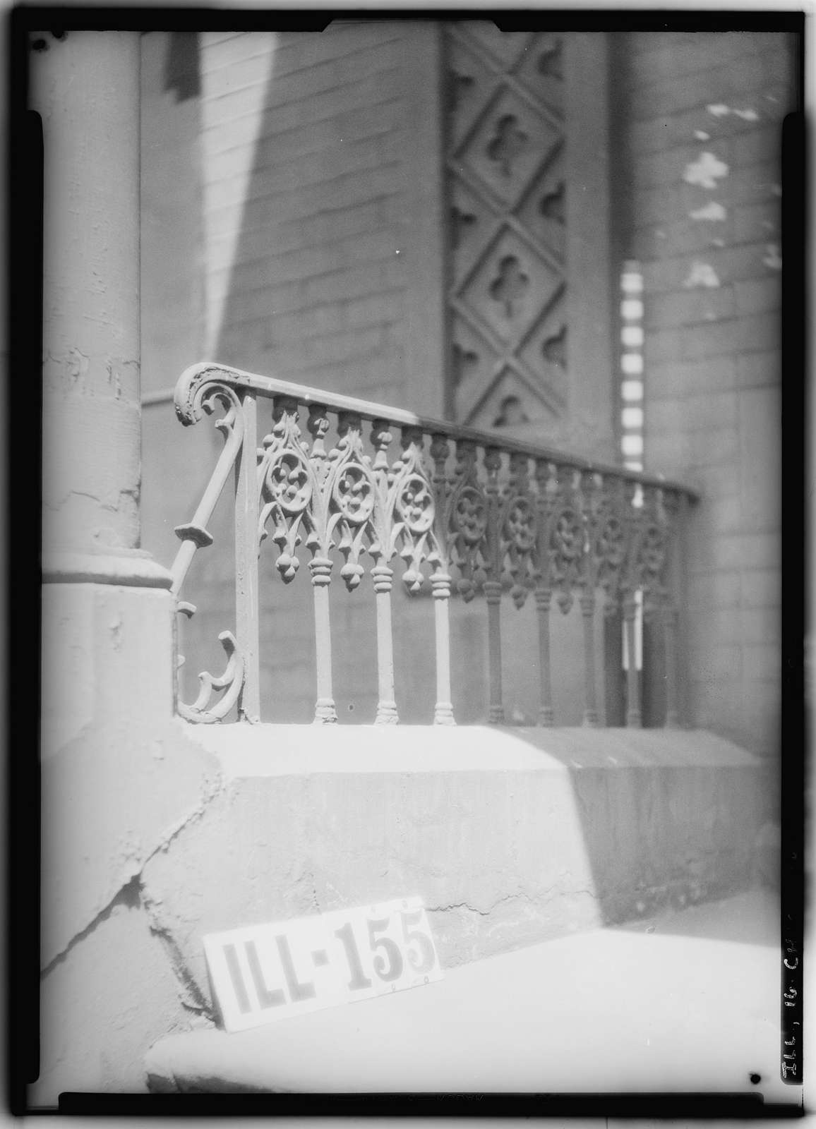 Chicago Ironwork, 1237 North Dearborn Street (Cast Iron Porch Railing & Fence), 1237 North Dearborn Street, Chicago, Cook County, IL