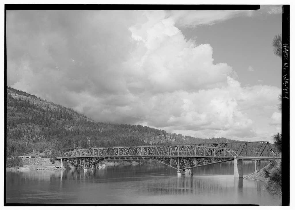 Columbia River Bridge at Kettle Falls, U.S. Route 395 spanning Columbia River, Kettle Falls, Stevens County, WA