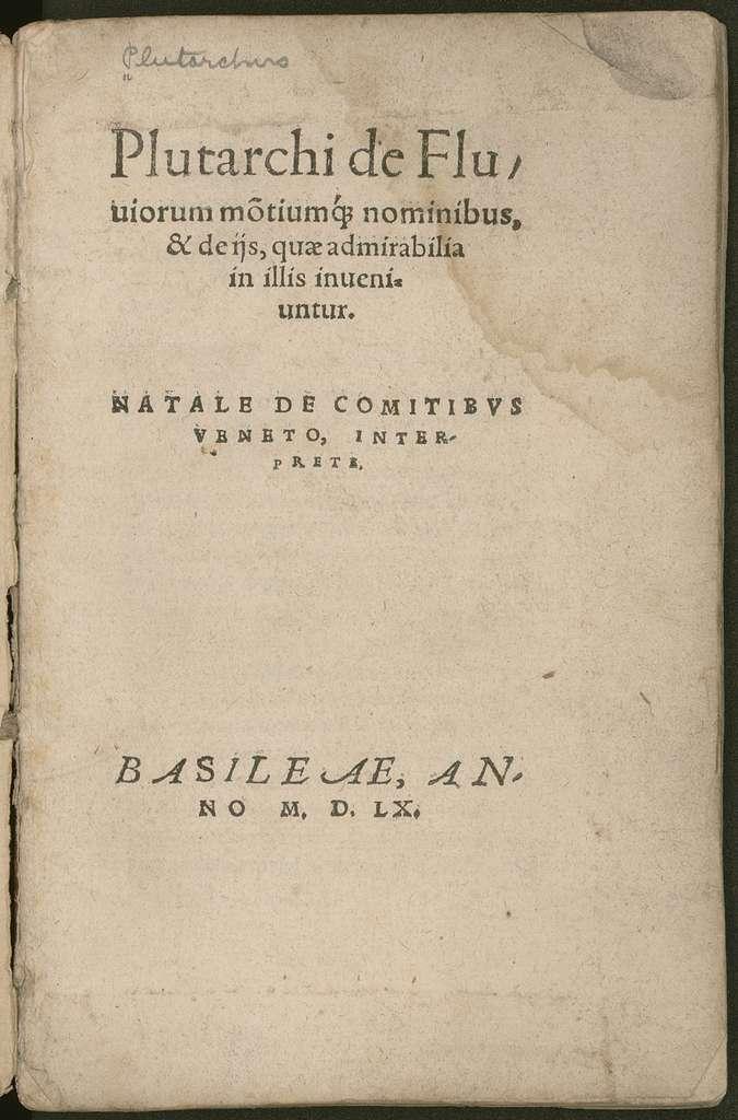 De fluuiorum mōtiumq nominibus, & de ijs, quæ admirabilia in illis inueniuntur
