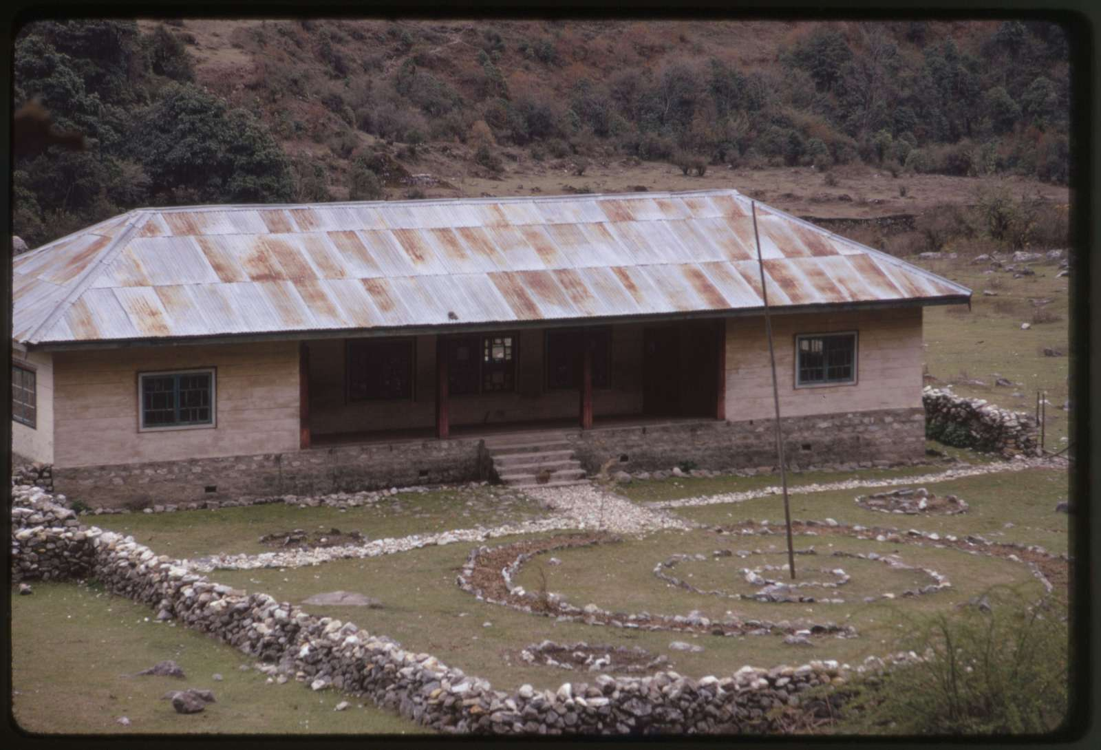 [Exterior of Lachung school, Sikkim]