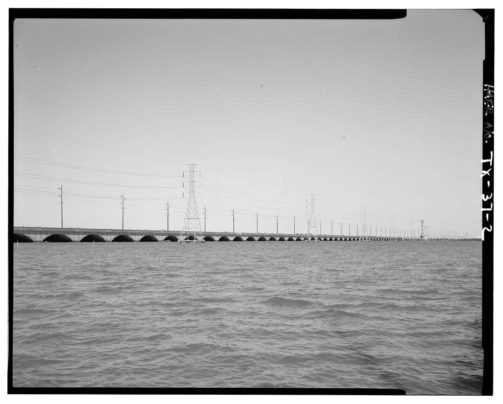 Galveston Causeway, Spanning Galveston Bay parallel to I-45, Galveston, Galveston County, TX