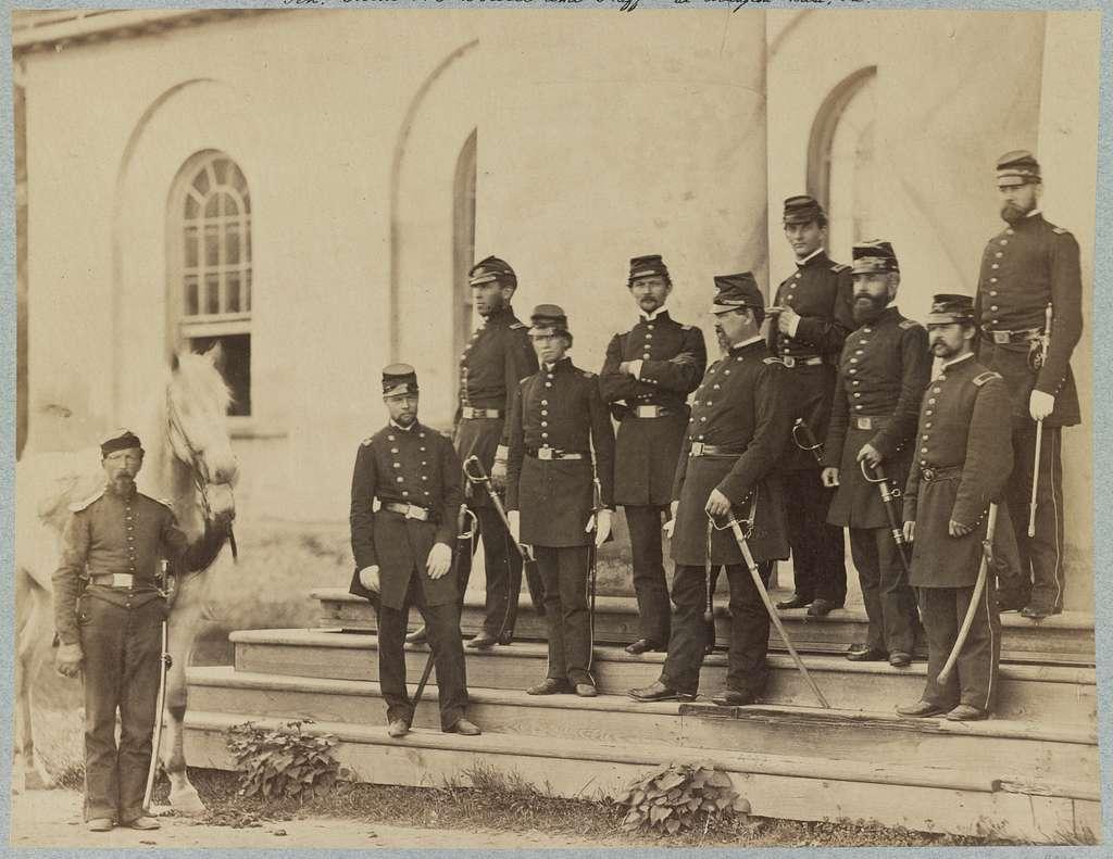 Gen. Irvin McDowell and staff at Arlington House, Va.