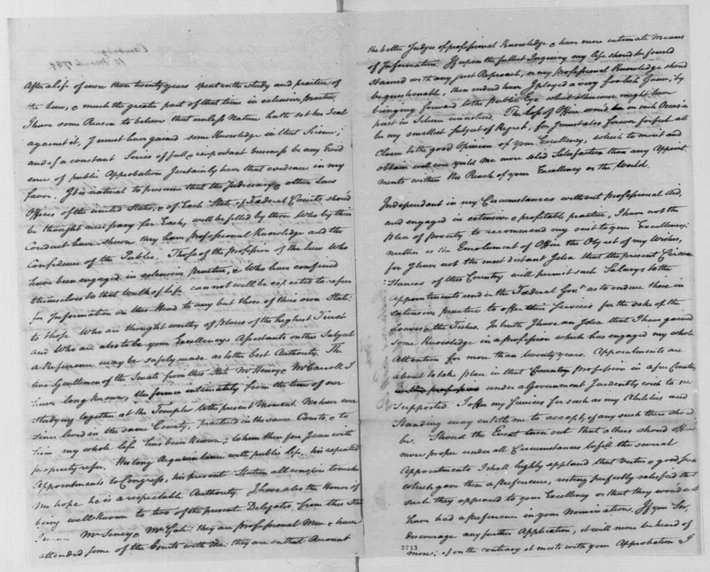 George Washington Papers, Series 7, Applications for Office, 1789-1796: Gustavus Scott