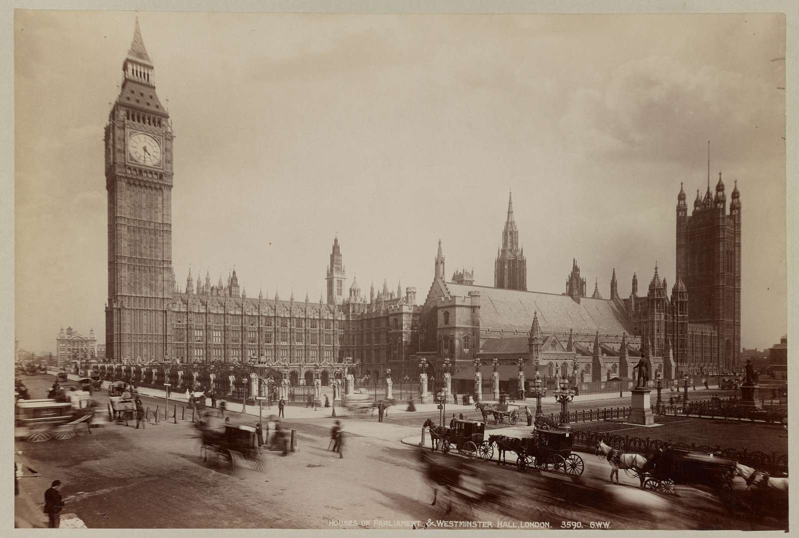 Houses of Parliament & Westminster Hall, London / G.W.W.