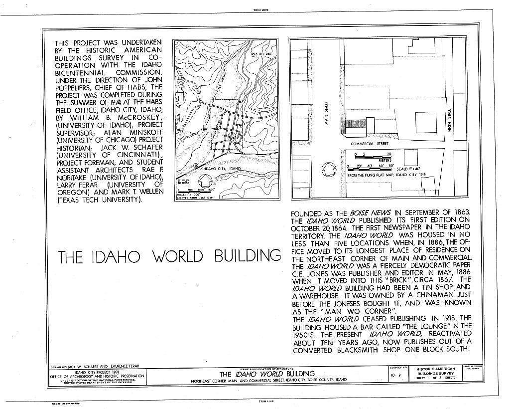 Idaho World Building, Main & Commercial Streets, Idaho City, Boise County, ID