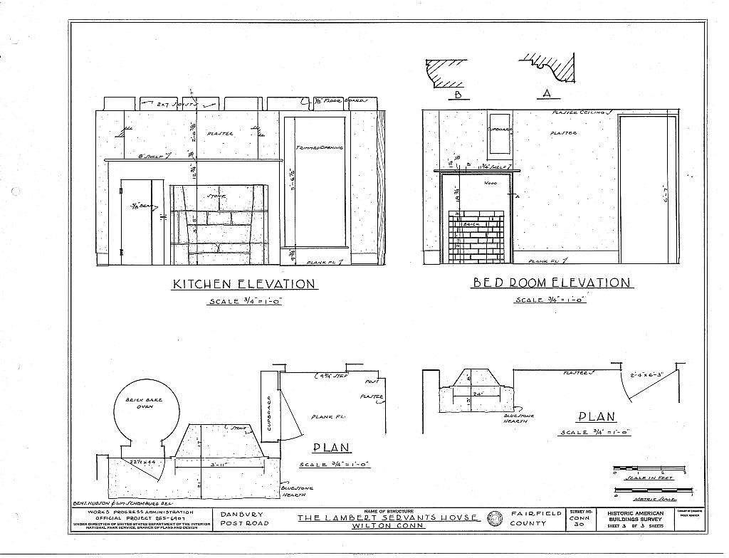 Lambert Servants House, Danbury Post Road, Wilton, Fairfield County, CT
