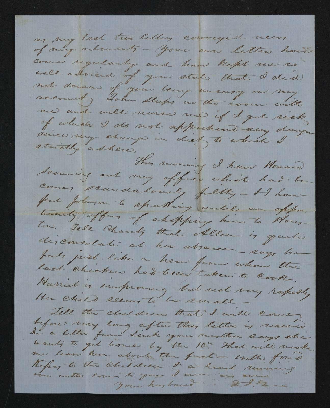 Lewis H. Machen Family Papers: Gresham Family Correspondence, 1834-1925; 1852-1854