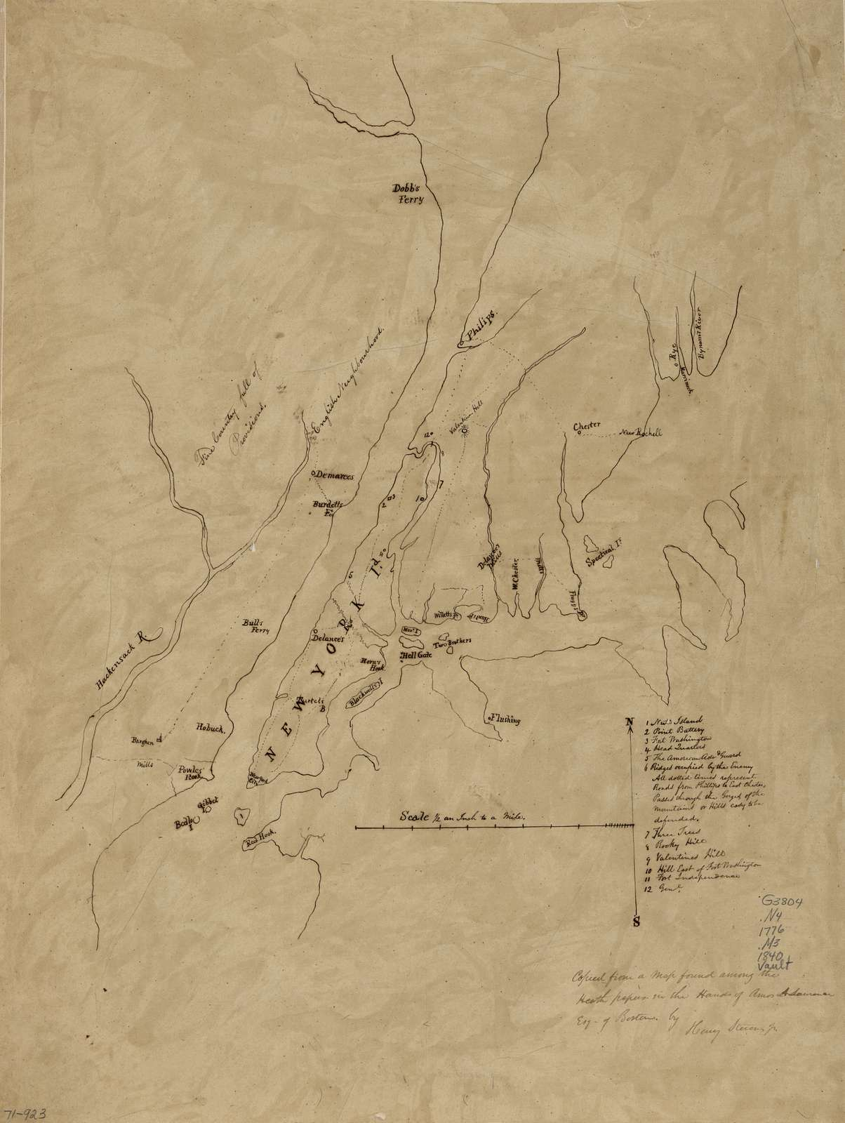 [Map of New York Island and vicinity.