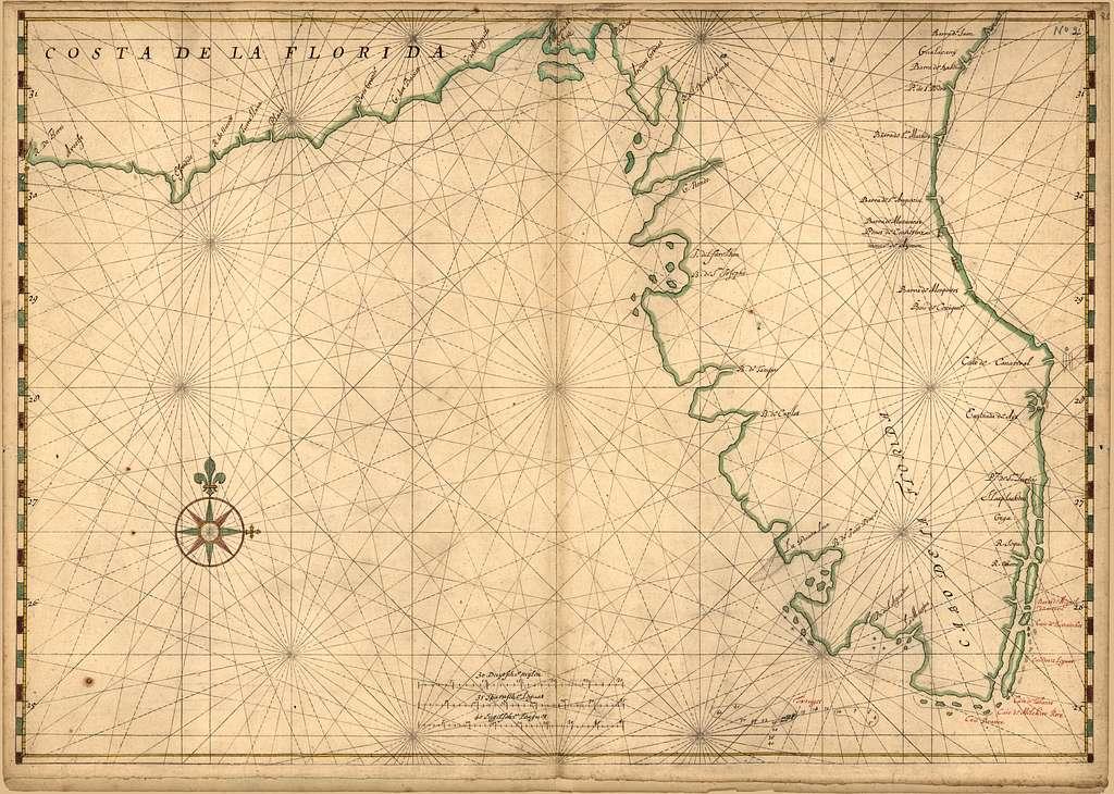 [Map of the Peninsula of Florida].
