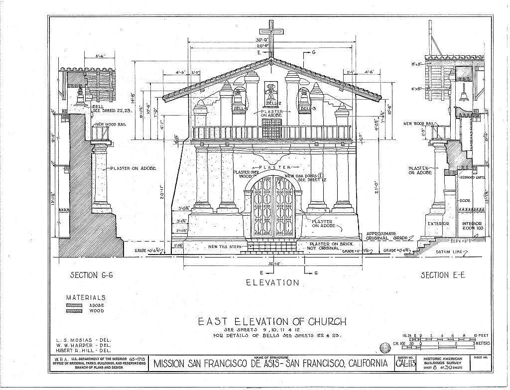 Mission San Francisco de Asis, Mission & Sixteenth Streets, San Francisco, San Francisco County, CA
