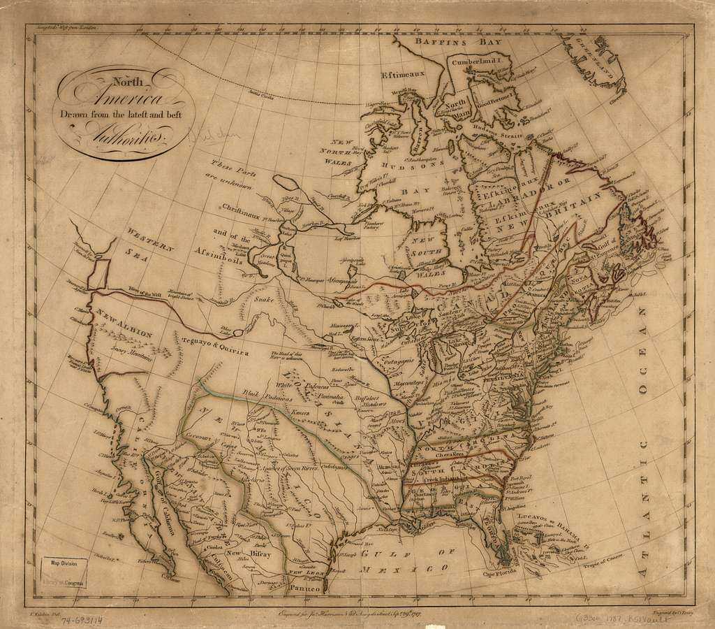 North America drawn from the latest and best authorities.