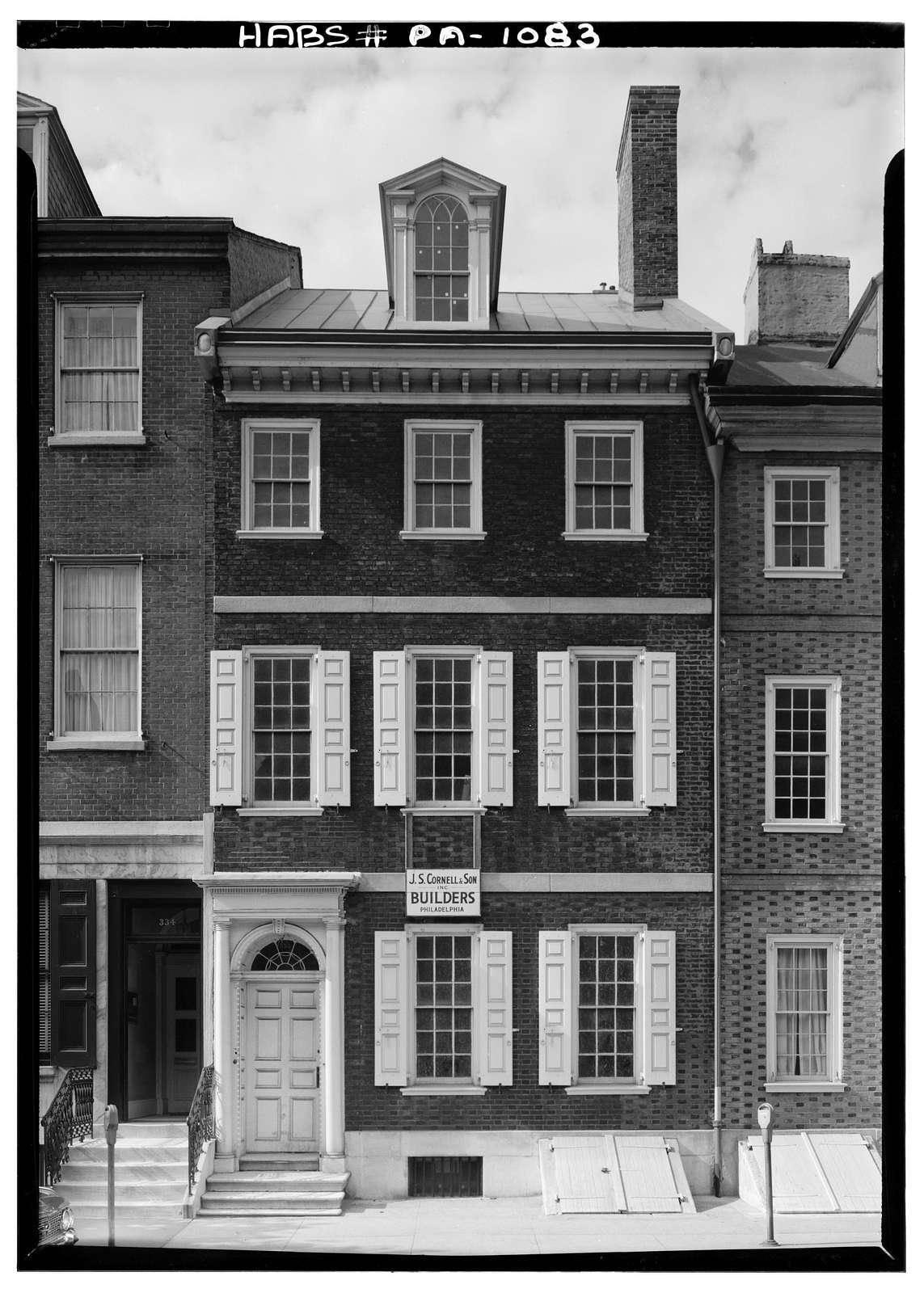 Pancoast-Lewis-Wharton House, 336 Spruce Street, Philadelphia, Philadelphia County, PA