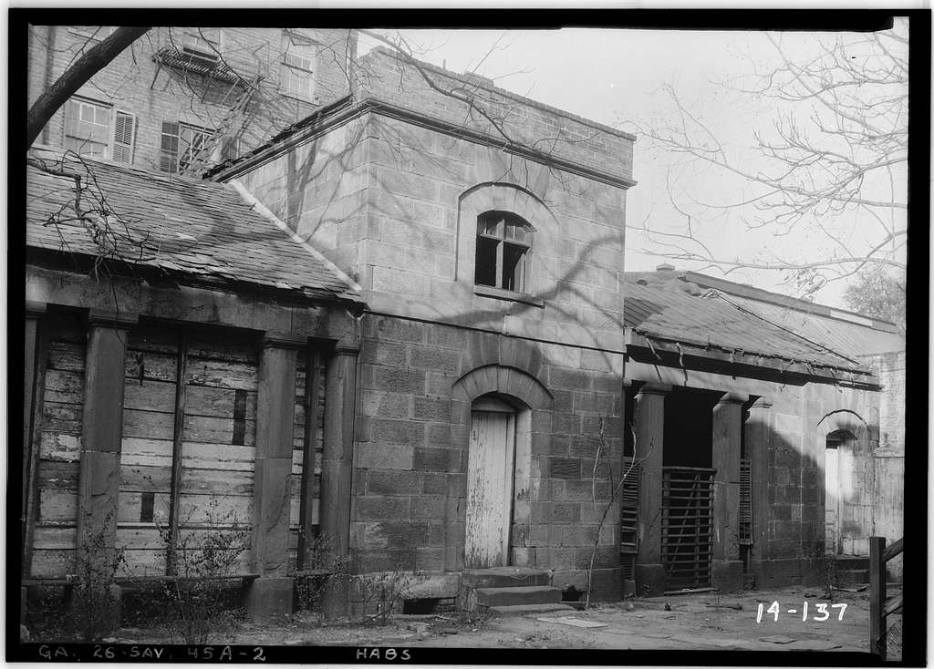 Reid Servants' & Carriage House, 118 East State Street (rear lot), Savannah, Chatham County, GA