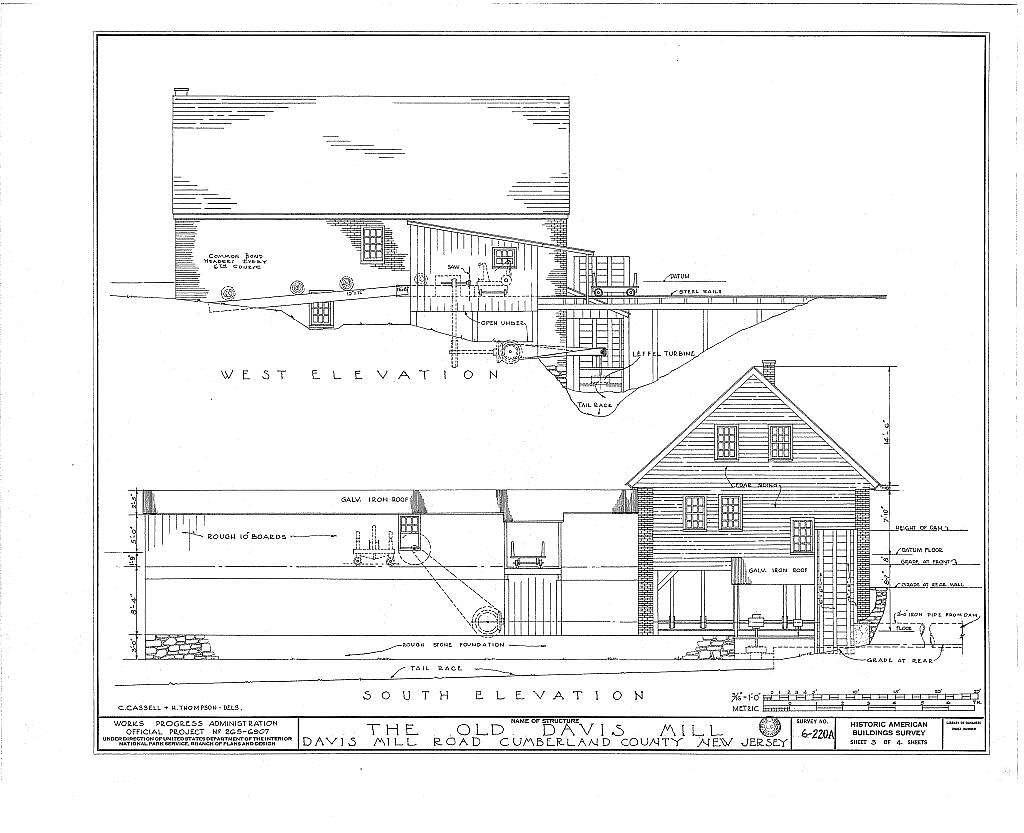 Seeley-Davis Mill, Davis Mill Road, Greenwich, Cumberland County, NJ