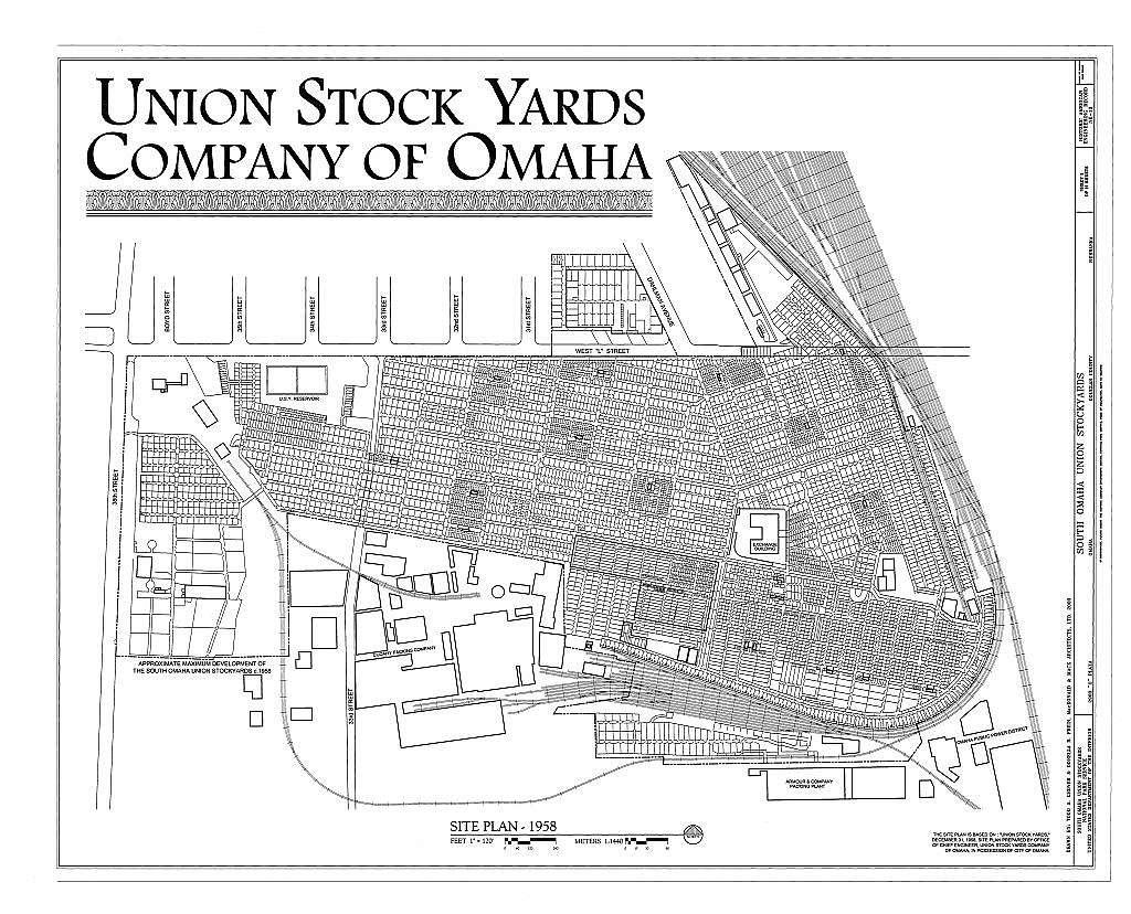 "South Omaha Union Stock Yards, 2900 ""O"" Plaza, Omaha, Douglas County, NE"