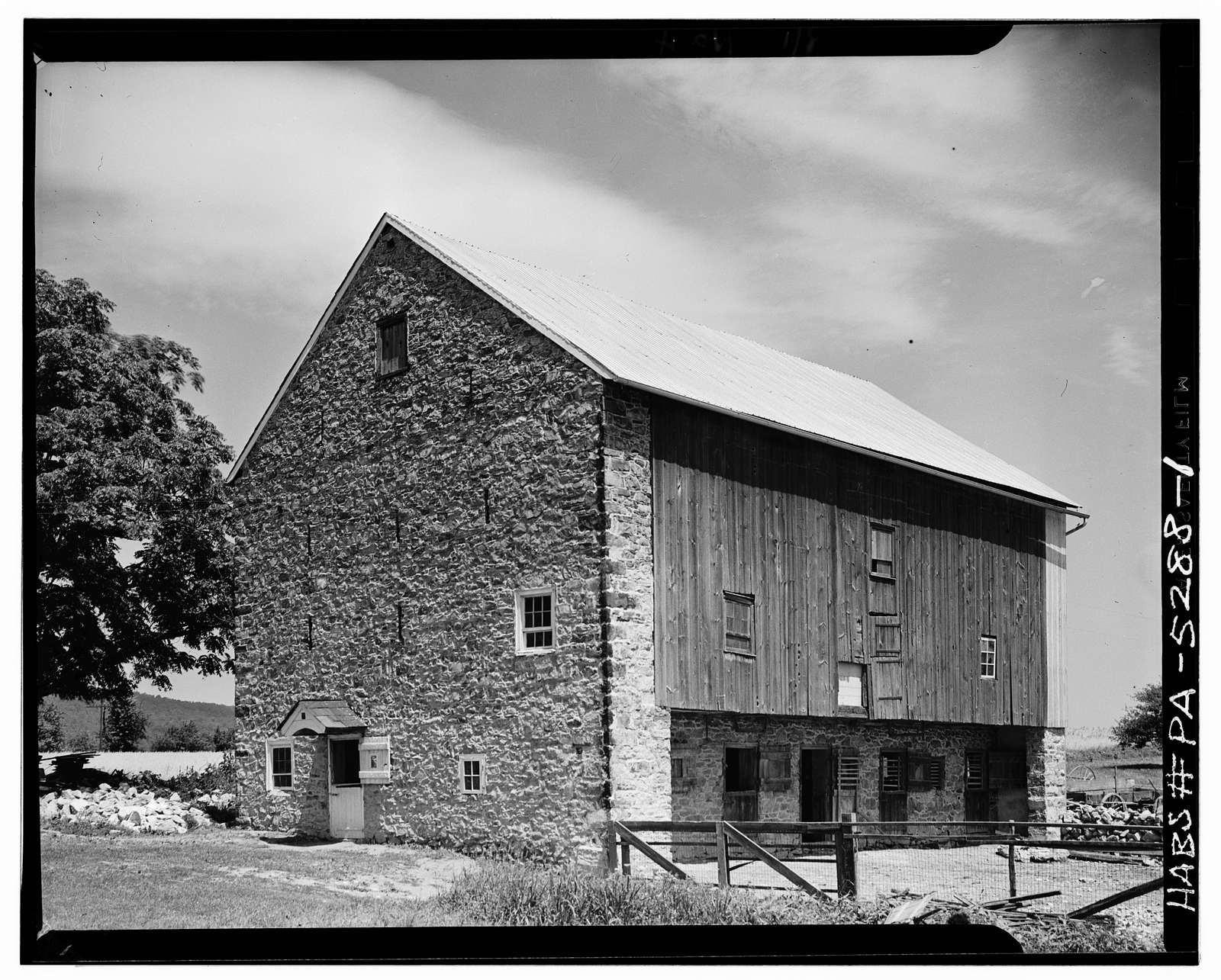 Stone Barn (1790), State Route 212 (Springfield Township), Springtown, Bucks County, PA