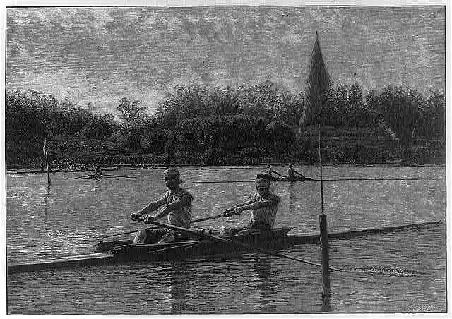 The Biglin Brothers turning the stake, after painting by Thomas Eakins